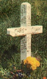 Roadside cross for Chris